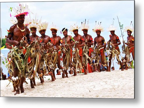 Tribal Metal Print featuring the photograph Kitava Papua New Guinea 210 by Per Lidvall