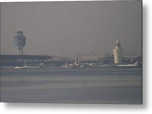 La Guardia Airport Metal Print featuring the photograph La Guardia From The Bronx by Christopher Kirby