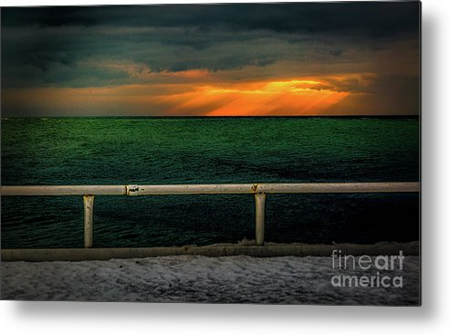 Blue Metal Print featuring the photograph Lake Ontario Dawn by Roger Monahan