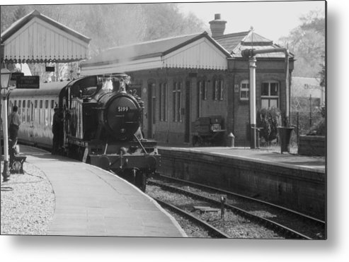 Llangollen Metal Print featuring the photograph Llangollen 5199 Bw by Brainwave Pictures