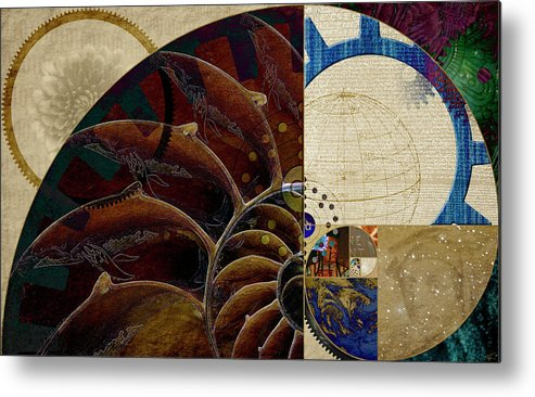 Golden Mean Metal Print featuring the digital art Loose Change by Kenneth Armand Johnson