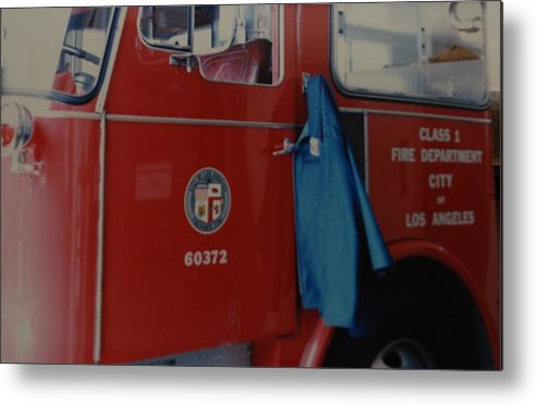 Los Angeles Fire Department Metal Print featuring the photograph Los Angeles Fire Department by Rob Hans