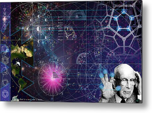 Buckminster Fuller Metal Print featuring the digital art Metaphysical Gravity by Kenneth Armand Johnson