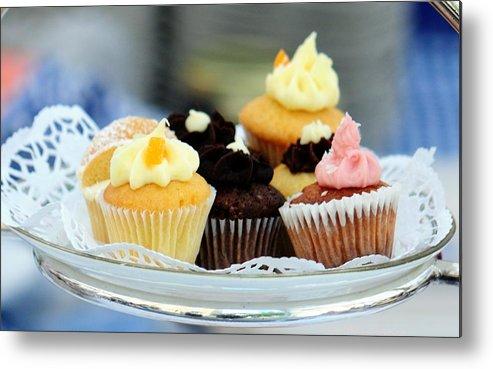 Cupcakes Metal Print featuring the photograph Mini Cupcakes 7813 by PhotohogDesigns