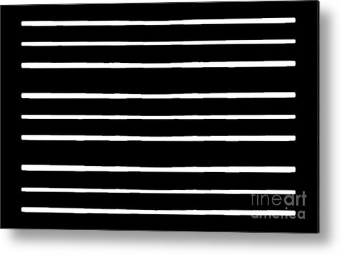 Black And White Abstract Metal Print featuring the digital art Nine Bars by Hugh Thompson