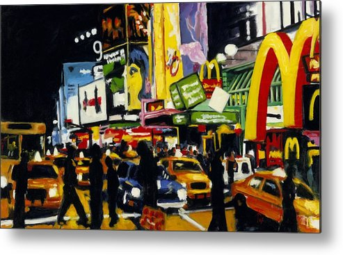 New York Metal Print featuring the painting Nyc II The Temple Of M by Robert Reeves