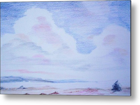 Landscape Painting Metal Print featuring the painting On The Way by Suzanne Udell Levinger