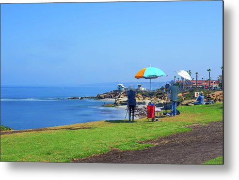 La Jolla Metal Print featuring the photograph Painting The Coastline by Joseph S Giacalone