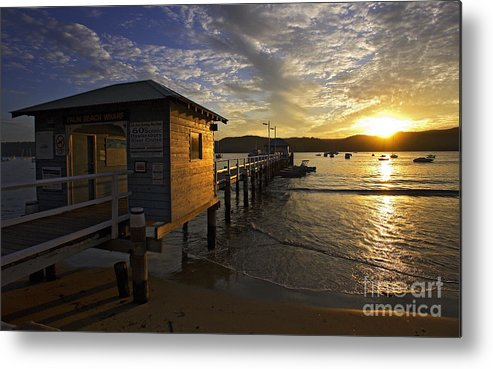 Palm Beach Sydney Australia Sunset Water Pittwater Metal Print featuring the photograph Palm Beach Sunset by Sheila Smart Fine Art Photography