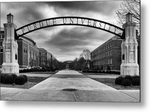 Purdue Metal Print featuring the photograph Purdue Entrance Sign by Coby Cooper