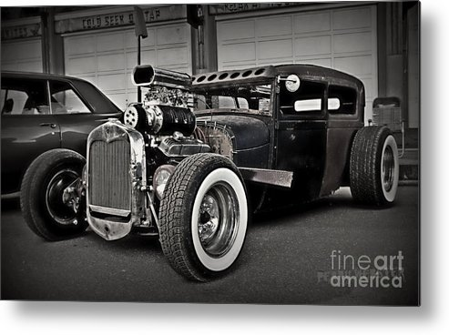 Rat Rod Metal Print featuring the photograph Rat Rod Scene 3 by Perry Webster