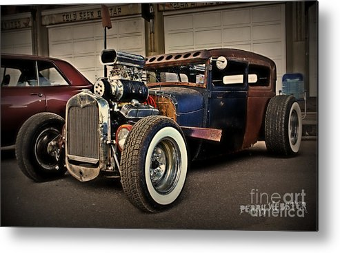 Rat Rod Metal Print featuring the photograph Rat Rod Scene by Perry Webster