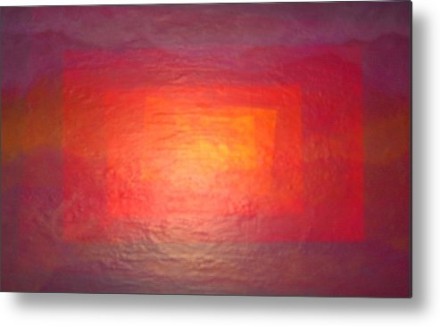 Abstract Landscape Metal Print featuring the painting Rectanglands by Sally Van Driest