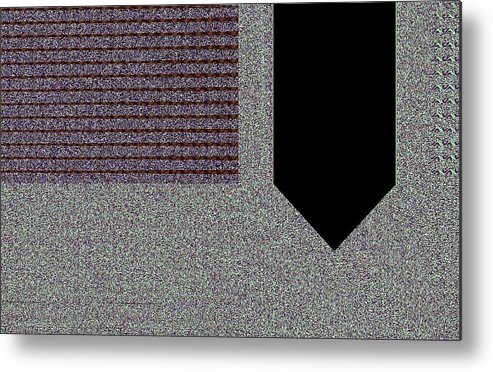 Digital Metal Print featuring the digital art Right-sided Shirt Pocket by Thomas Smith