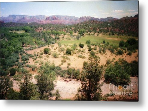 Arizona Metal Print featuring the photograph Sedona View Red Rock Mesa by Ted Pollard