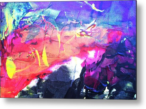 Abstract Metal Print featuring the painting So Many Shapes Coming And Going by Bruce Combs - REACH BEYOND