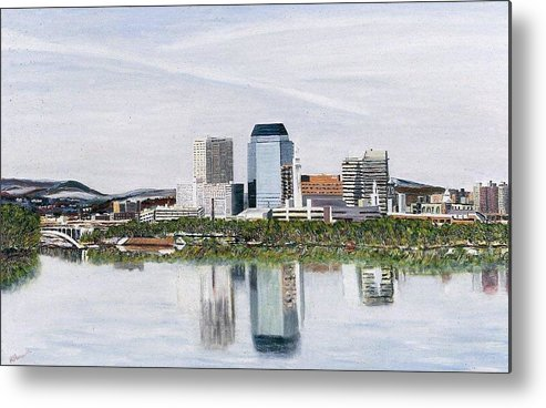Reflections Metal Print featuring the painting Springfield Reflections by Richard Nowak