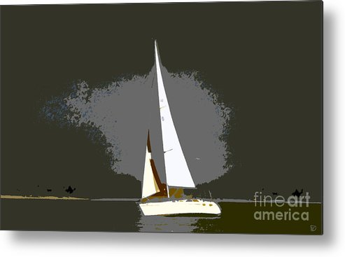 Sailing Metal Print featuring the painting Sunday Sailing by David Lee Thompson