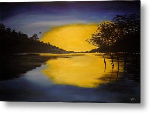 Sunrise Metal Print featuring the painting Sunrise by Christian Hidalgo