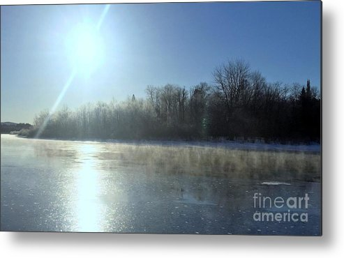 Sunrise Metal Print featuring the photograph Sunrise Over The Androscoggin River by Mark Guilfoyle