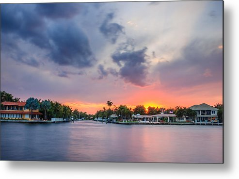 America Metal Print featuring the photograph Sunset Across The Gulf Stream by Rob Sellers
