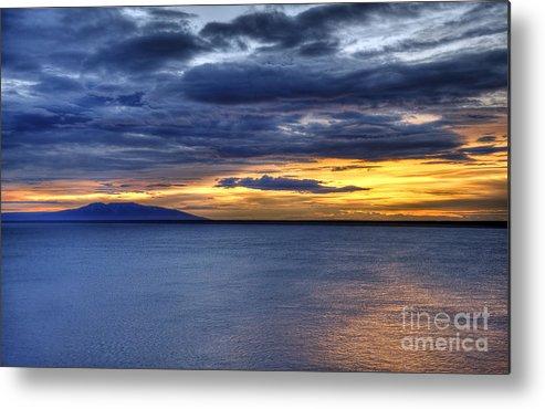 Landscape Metal Print featuring the photograph Sunset Seascape Alaska by John Greim