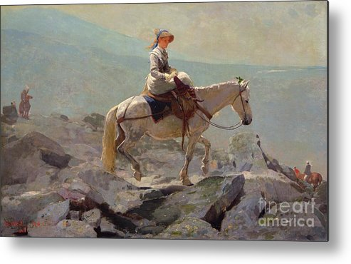 The Bridal Path Metal Print featuring the painting The Bridal Path by Winslow Homer