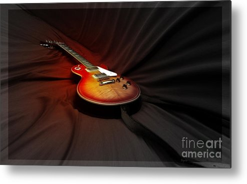 Guitar Metal Print featuring the photograph The Les Paul by Steven Digman