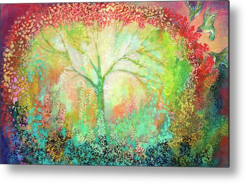 Tree Metal Print featuring the painting The Light Within by Jennifer Lommers