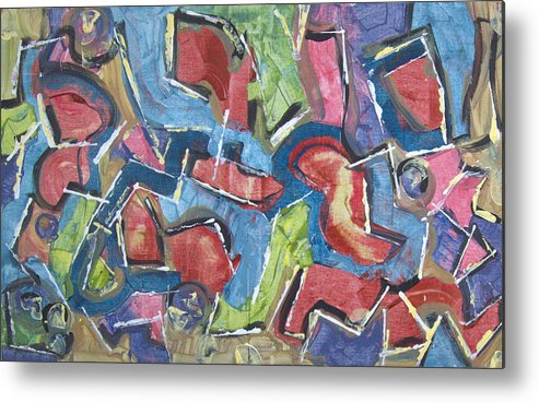 Abstract Metal Print featuring the painting The Magic Show by Robert Dalton