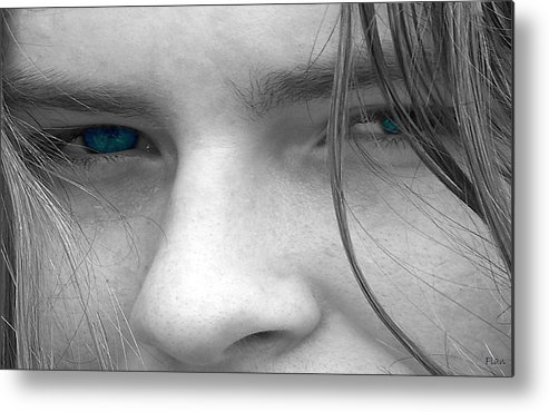 Male Metal Print featuring the photograph Those Blue Eyes by Ruben Flanagan