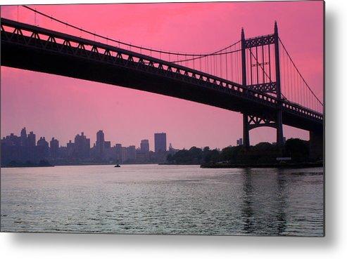 Bridge Metal Print featuring the photograph Triborough Bridge From Astoria Park by Christina Martinez