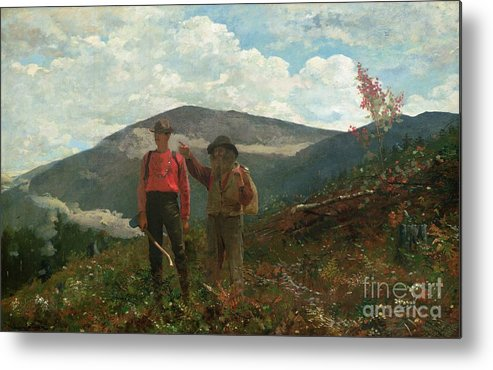 Two Guides Metal Print featuring the painting Two Guides by Winslow Homer