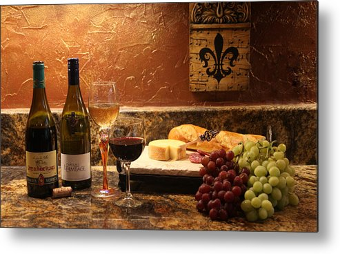 Alcohol Metal Print featuring the photograph Uncorked by Tammy Pool
