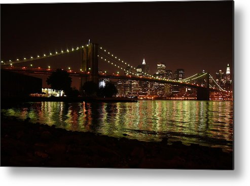 Ny Metal Print featuring the photograph View From Dumbo by Kareem Farooq