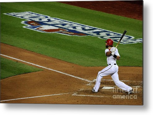 Playoffs Metal Print featuring the photograph St. Louis Cardinals V Washington 2 by Patrick Mcdermott