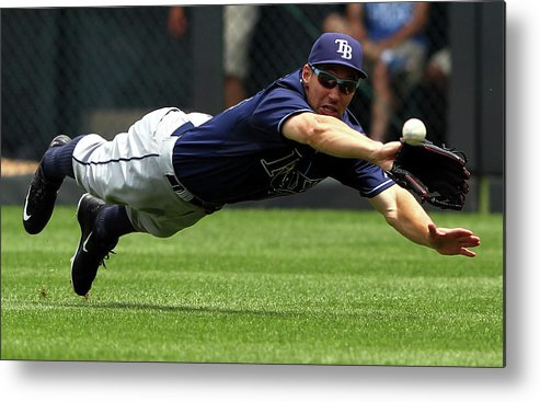 People Metal Print featuring the photograph Tampa Bay Rays V Kansas City Royals 2 by Jamie Squire