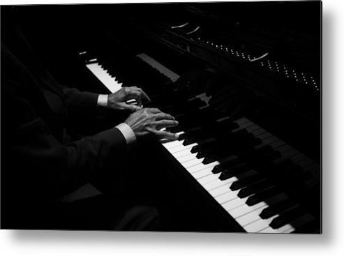 Piano Metal Print featuring the photograph Hands Playing The Piano by Thepalmer