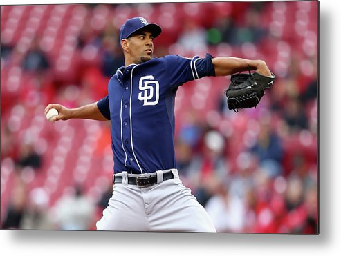 Great American Ball Park Metal Print featuring the photograph Tyson Ross by Andy Lyons