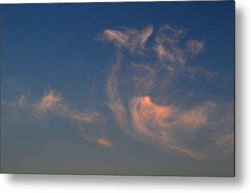 Abstract Metal Print featuring the photograph High In The Sky by Lyle Crump