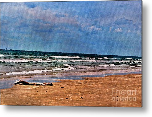 Sand Metal Print featuring the photograph Sea Sand Wc by Ken Williams