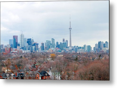 Apartment Metal Print featuring the photograph Toronto View by Valentino Visentini