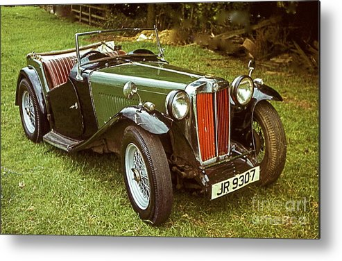 1938 Mg Ta Priced At $ 1550. In 1970. Metal Print featuring the photograph 1938 Mg Ta Priced At Only 1550. In 1970. by Robert Birkenes