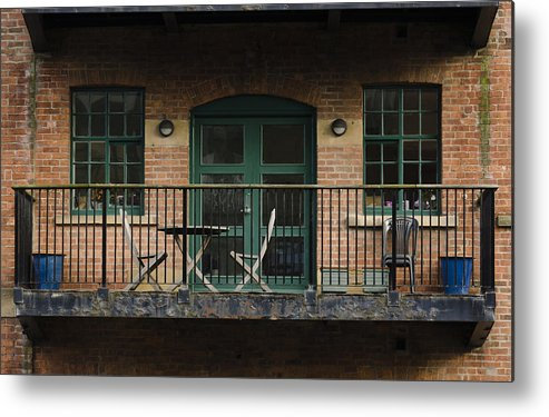 Balcony Metal Print featuring the photograph A Balcony On The River Aire by Pablo Lopez