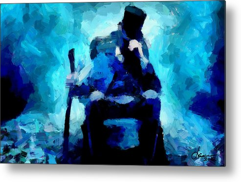 Abraham Lincoln Metal Print featuring the digital art Abraham Lincoln Tnm by Vincent DiNovici