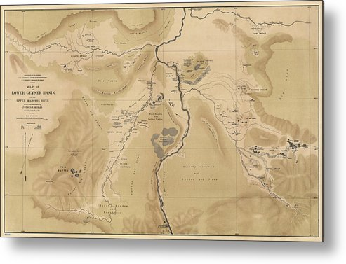 Antique Map Of Yellowstone National Park - Lower Geyser Basin - 1872 ...
