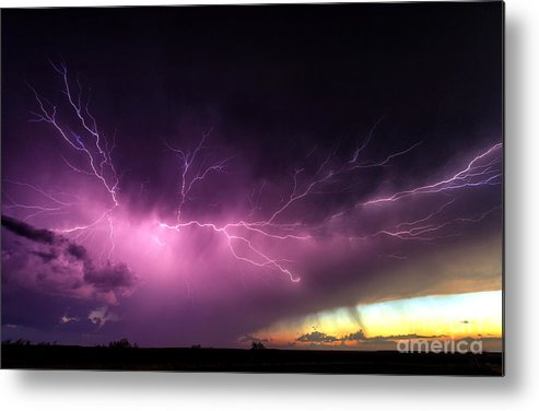 Lightning Metal Print featuring the photograph Anvil Crawler Lightning #2 by Marko Korosec
