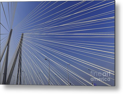 India Metal Print featuring the photograph Bandra Worli Sea Link-3 by Milind Ketkar