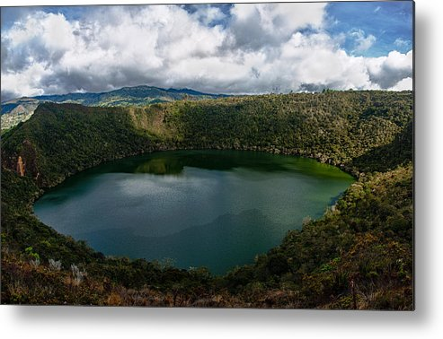 Lake Metal Print featuring the photograph Beautiful Lake Guatavita by Jess Kraft