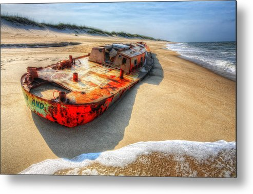 Outer Banks Metal Print featuring the photograph Blood And Guts I - Outer Banks by Dan Carmichael
